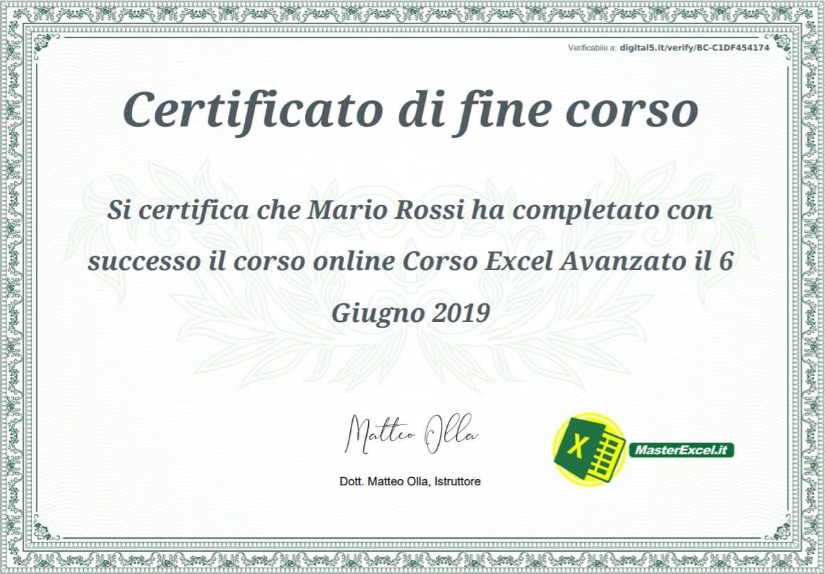 certificato-corso-excel-avanzato-masterexcel