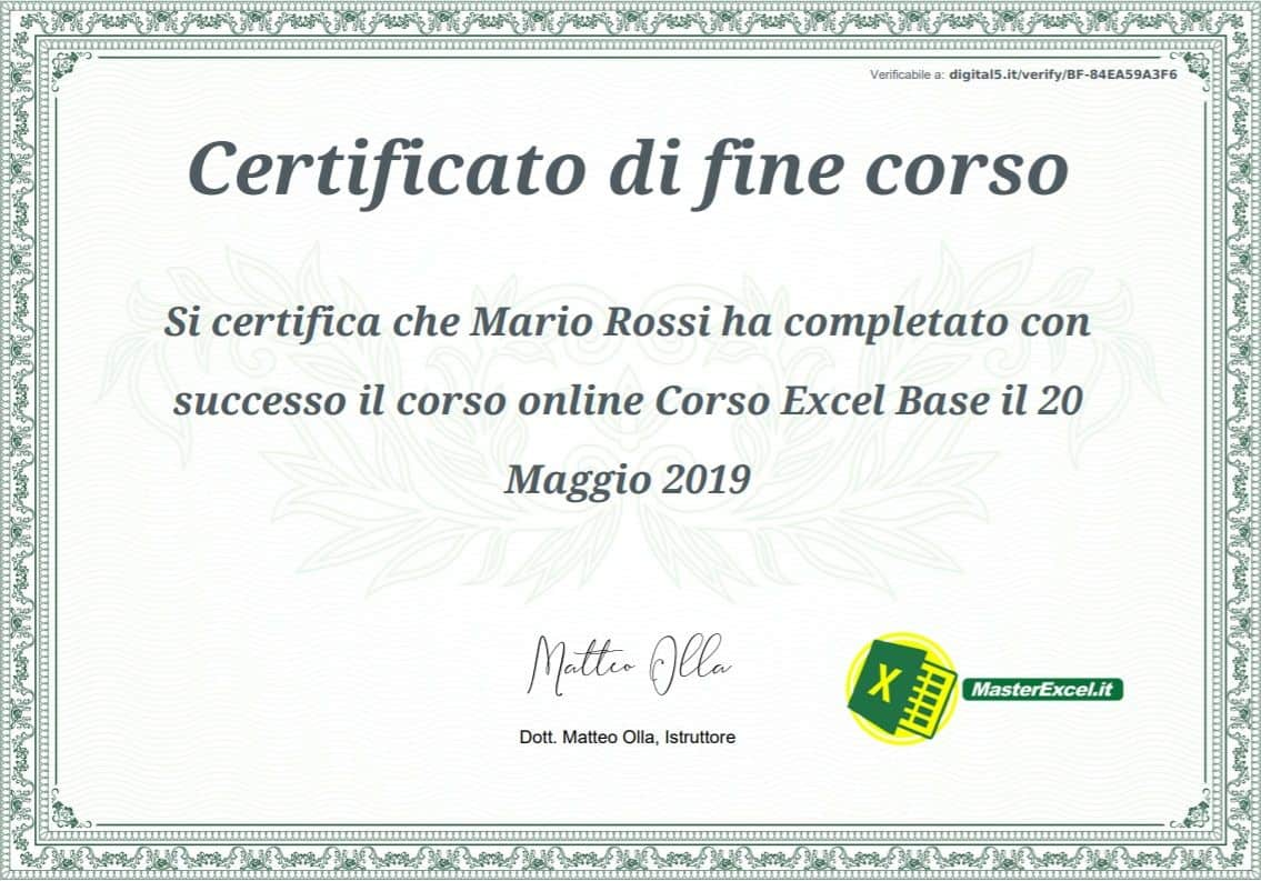 certificato-corso-excel-base